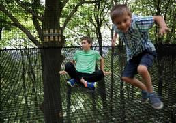 On se dépense en s'amusant au parc d'Olhain © Brigitte Baudesson