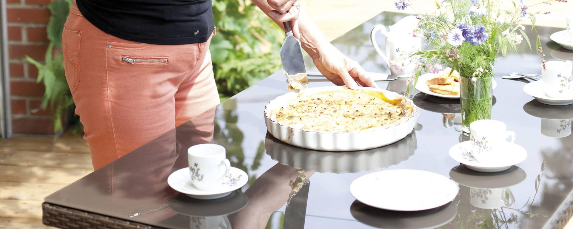 Une part de tarte maison à la Ferme des Saules ? © Brigitte Baudesson