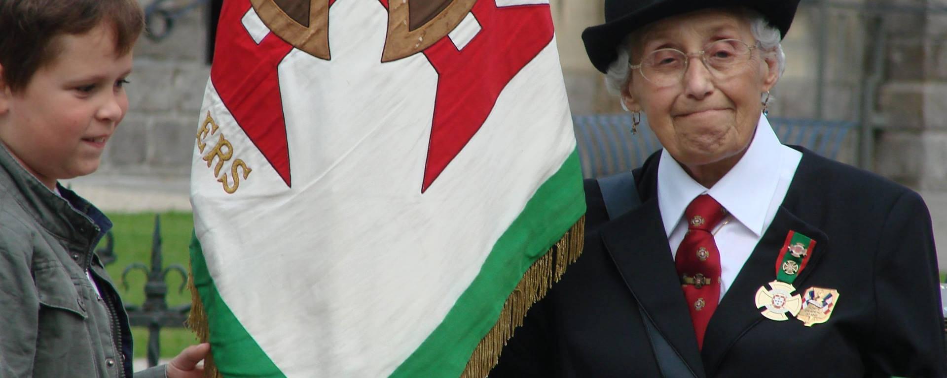 Feliçia Assunçao Pailleux de Burbure, la porte-drapeau du Corps Expéditionnaire Portugais