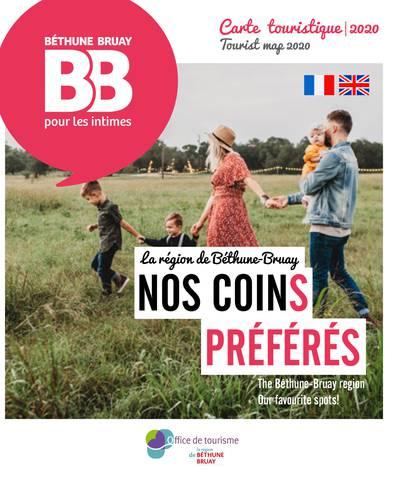 Carte touristique de Béthune-Bruay 2020