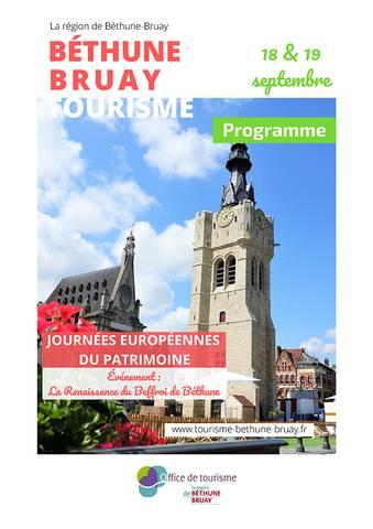 Programme des journées du patrimoine 2021 dans la région de Béthune-Bruay