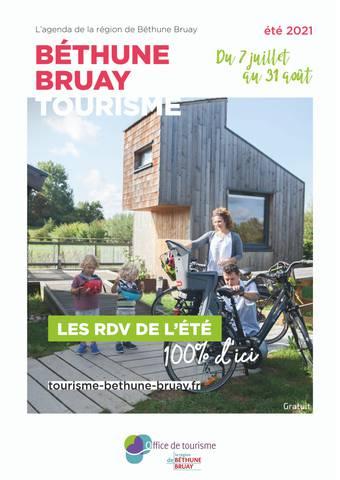 agenda des vacances d'été 2021 de l'office de tourisme de Béthune-Bruay