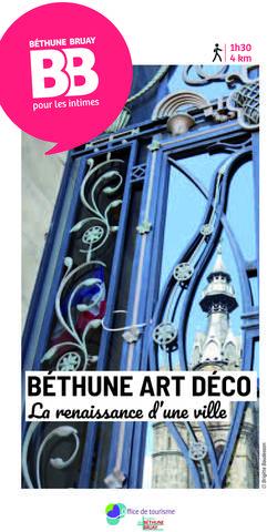 Livret Béthune Art déco, la renaissance d'une ville