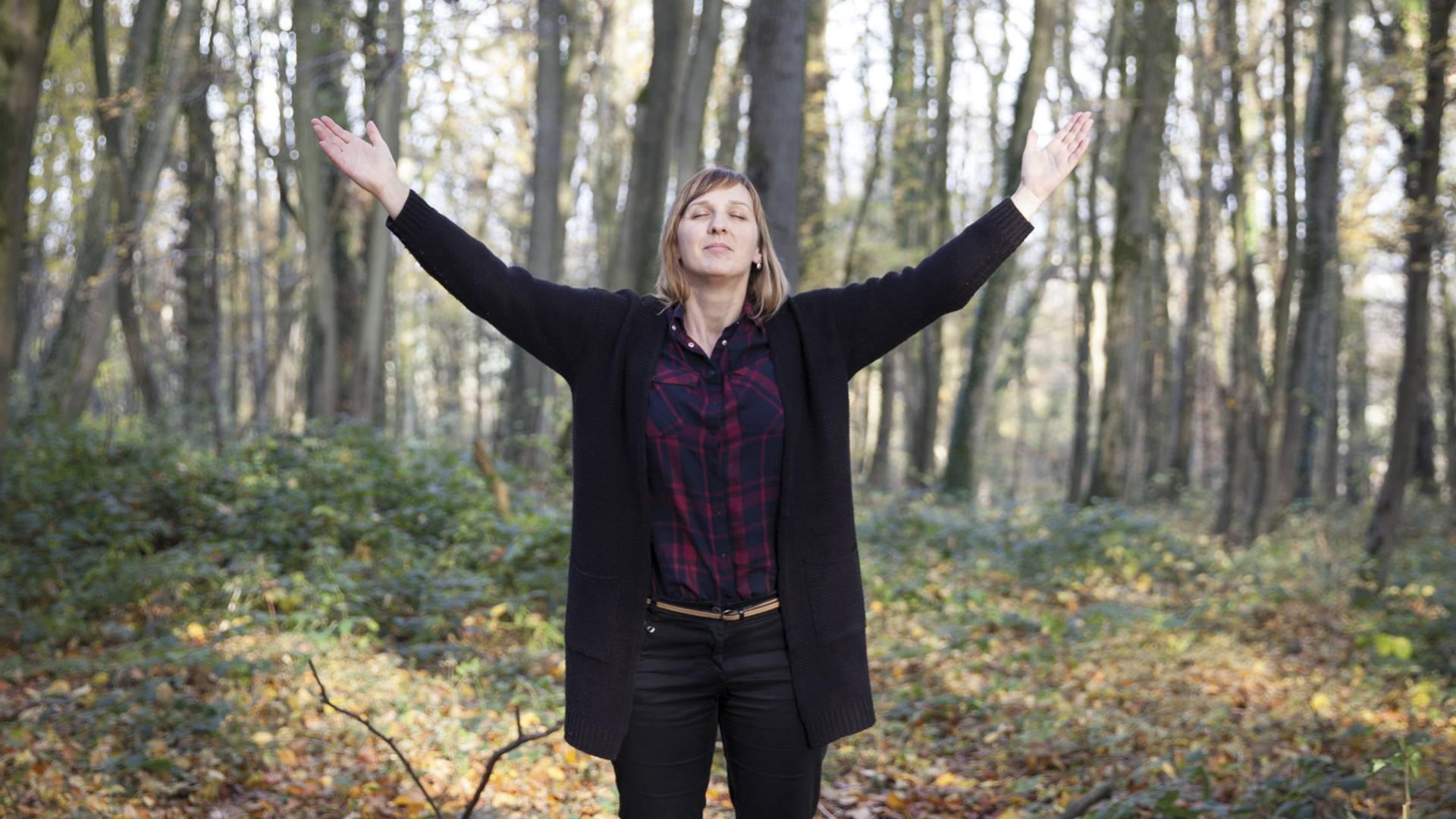 Balade sophrologique au Parc d'Olhain © Brigitte Baudesson