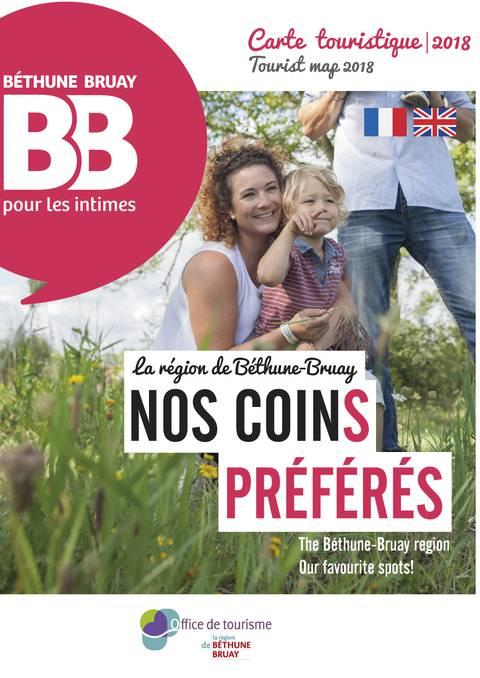 Carte touristique de Béthune-Bruay 2018