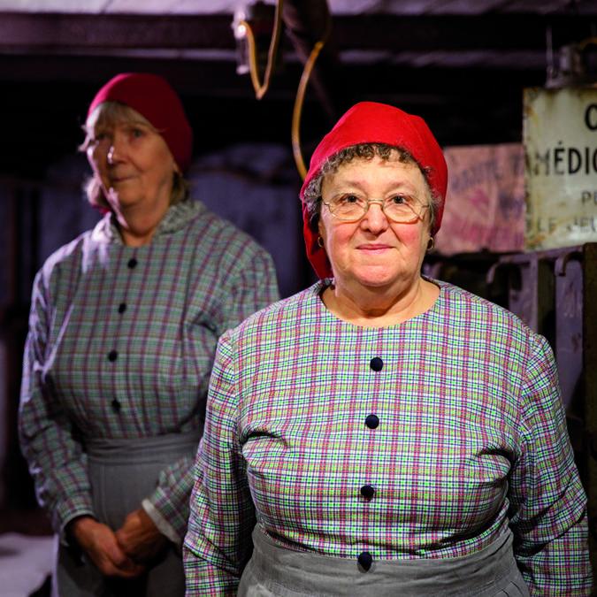 Les trieuses du Musée de la mine d'Auchel © Brigitte Baudesson