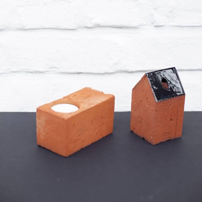 Bougeoir et Maisonnette en brique - 6.50€ - 8.50€
