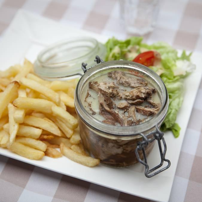 Le potjevleesch, spécialitée du chef ! © Brigitte Baudesson
