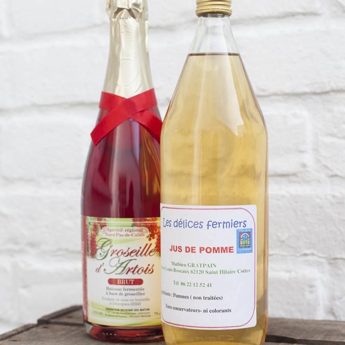 Jus de Pomme - 3.30€ - Groseillé d'Artois - 10.90€