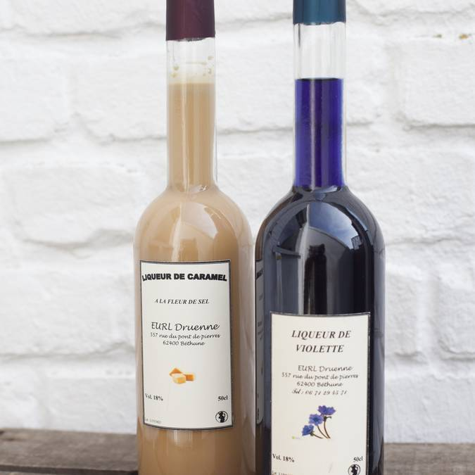 Liqueurs Caramel / Violette / Spéculos /  ...50cl - 24.50€