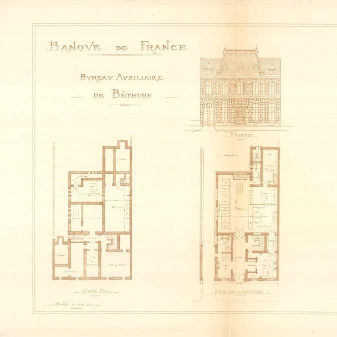 Les visites patrimoine - Labanque Béthune - Archives nationales Banque de France