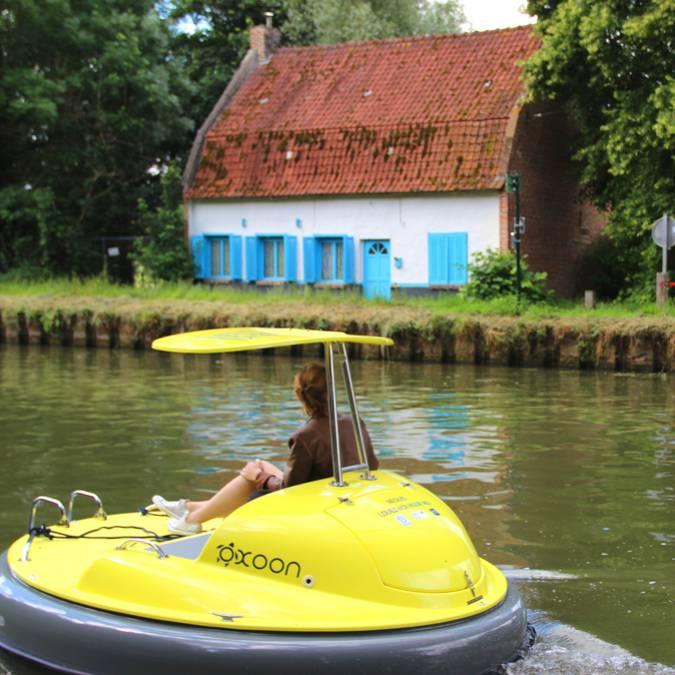 Bateaux électriques Néolys sur la Lys © Lys sans frontières